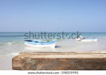 sea and desk in summer time  - stock photo