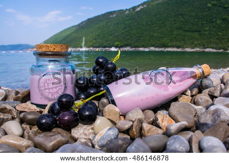 sea and fruit