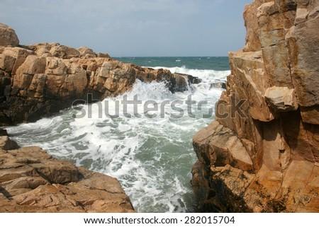 sea and rocks - stock photo