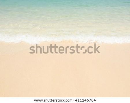 sea and sand beach - stock photo