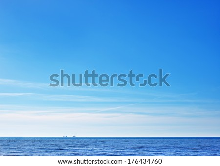 sea and sky - stock photo