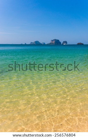 Sea and sky and mountain in Krabi from Thailand