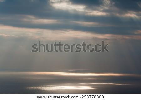 sea and sunbeam - stock photo