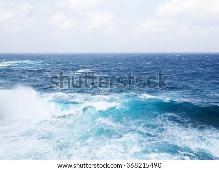 Sea and wave - stock photo