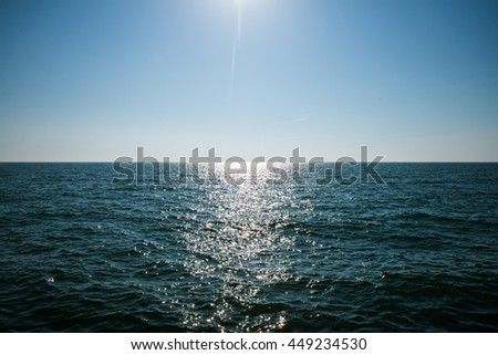 Sea at the sunset