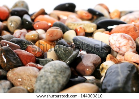 Sea background made from stones.