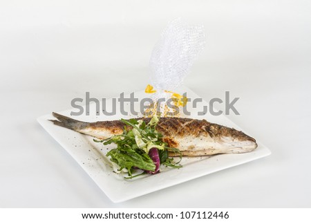 Sea-bass with vegetables