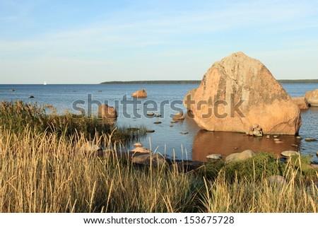sea bay in Estonia - stock photo