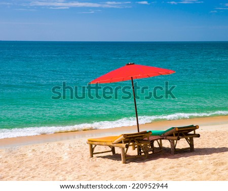 sea beach and blue sky
