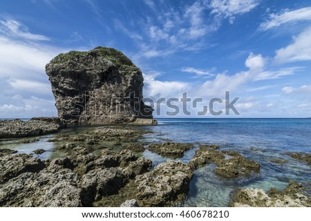 sea, beach and reef rock