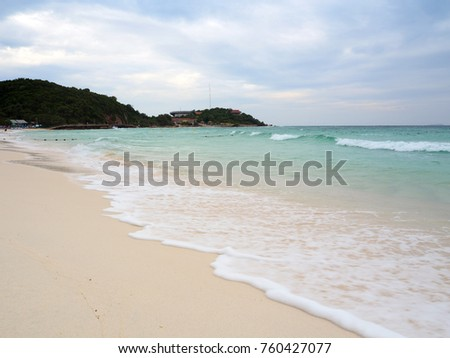 Sea beach at Lan island
