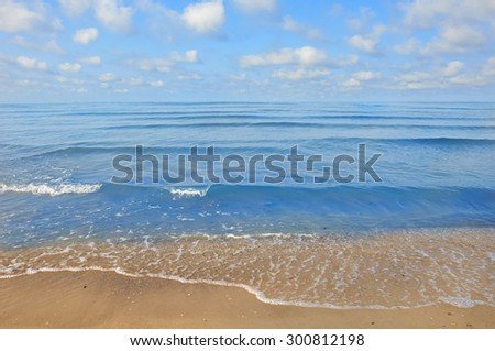 sea beach blue sky sand sun daylight - stock photo