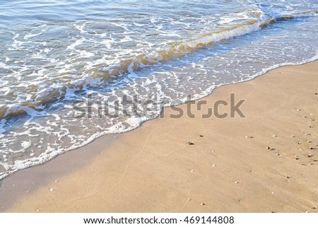 Sea beach sand background.