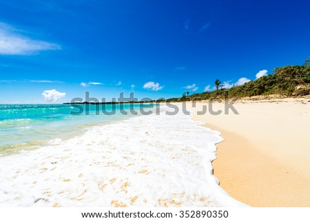 Sea, beach, seascape. Okinawa, Japan.