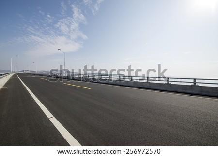 Sea Bridge Road - stock photo