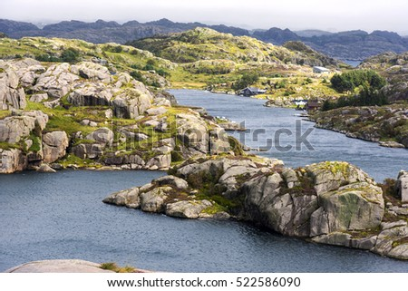 sea coast in Egersund Fyr in Norway