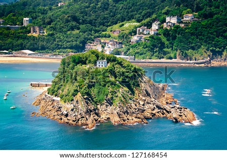 Sea coast of San Sebastian, Spain