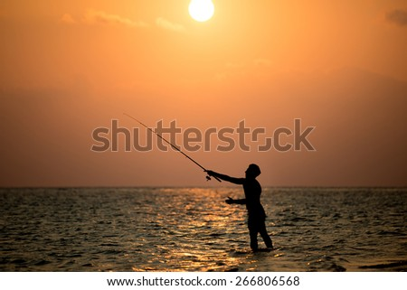 Sea Fishing - stock photo