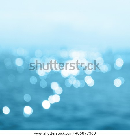 Sea in summer sun light - stock photo
