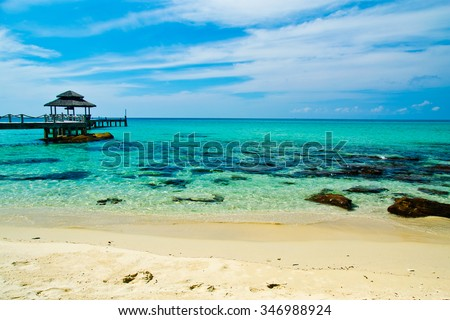 Sea in Thailand - stock photo