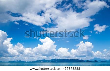 sea landscape in Thailand, Krabi - stock photo