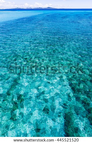 Sea, landscape, seascape. Okinawa, Japan, Asia.