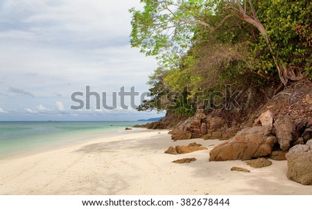 Sea landscape with clouds, Thailand - stock photo