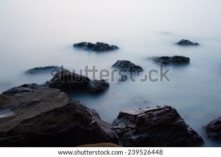 sea mist Thailand - stock photo