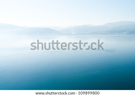 Sea near island Hydra, Greece - stock photo