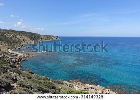 Sea - Northern Cyprus - stock photo