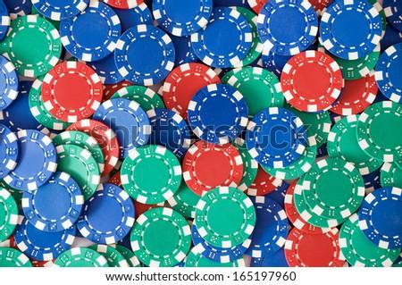 Sea of casino chips/Casino chips - stock photo