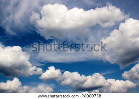 Sea of Clouds - stock photo