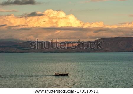Sea Of Galilee View - stock photo