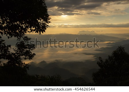Sea Of Mist With Doi Luang Chiang Dao, View Form Doi Dam in Wianghaeng