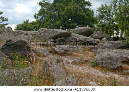 Sea of stones, Kali Basin, Hungary