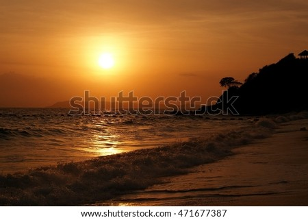 sea on sunset,the sea in Thailand