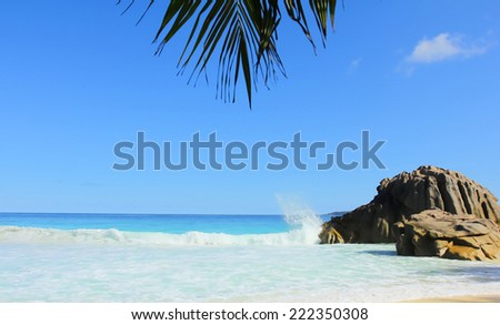 Sea Overhanging Stones  - stock photo