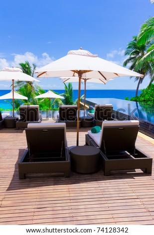 Sea Palms Luxury - stock photo