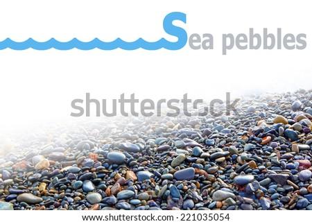 sea, pebble, shingle - stock photo
