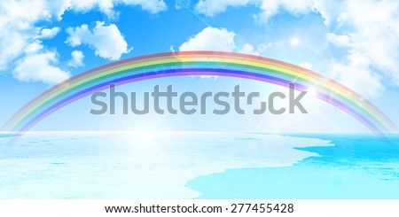 Sea rainbow background