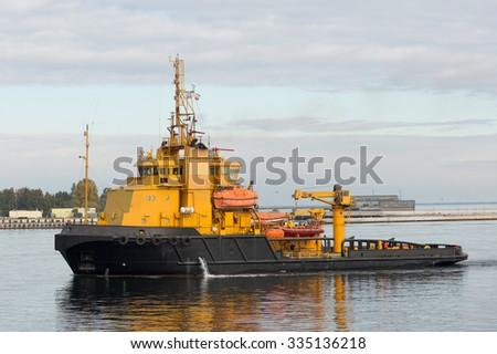 sea rescue ship - stock photo