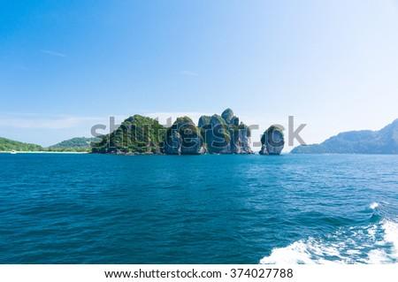 Sea Rocks Tranquil Bay  - stock photo