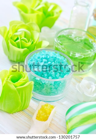 sea salt and soap