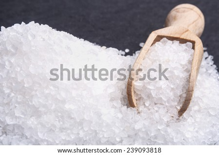 Sea salt background - stock photo