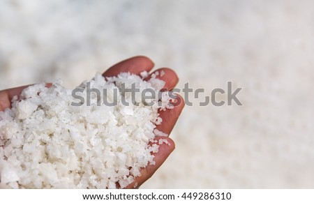 Sea salt in hand