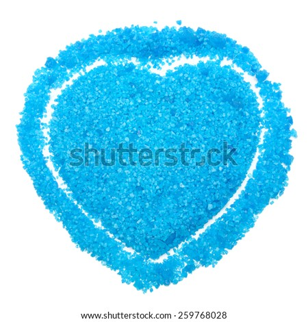 sea salt isolated on white background - stock photo