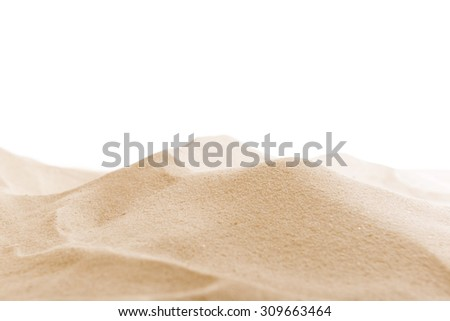 Sea sand isolated on white - stock photo