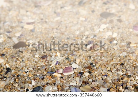 Sea sand on the beach background