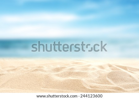 sea sand sky and summer day  - stock photo