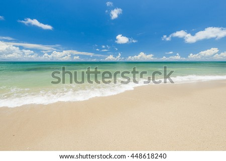 sea sand sun beach  in thailand  - stock photo